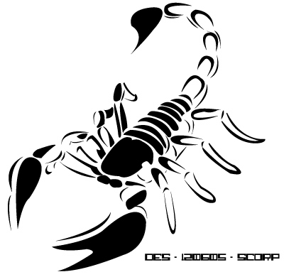 Here are some examples of scorpion tribal tattoo designs: :tattoo 1